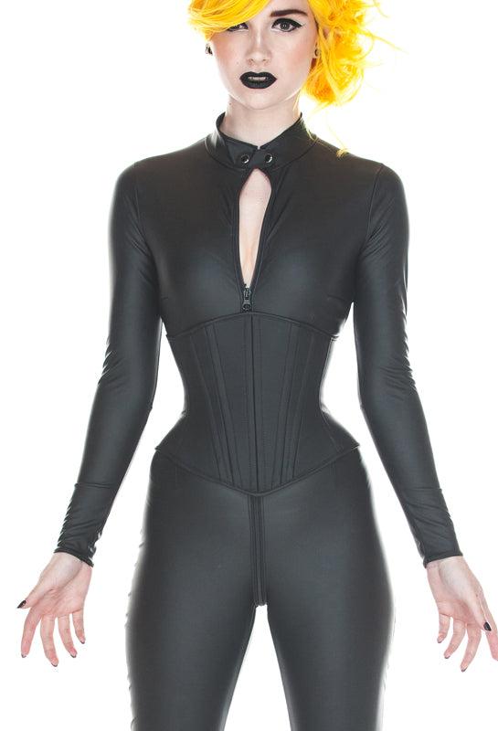 Angled long underbust corset