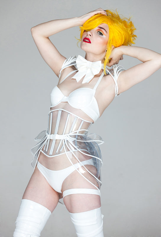 Clear PVC Angled long underbust