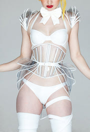Clear PVC Structured shrug
