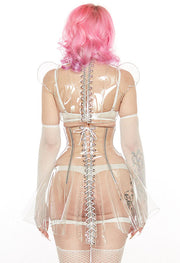 Clear PVC Lace up back shrug
