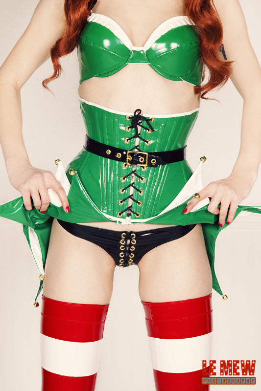 PVC Elf Costume (bra and underbust corset version)