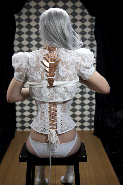 Clear PVC and Lace Bolero Shrug