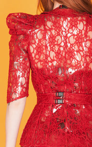 Clear PVC lace overlay Victorian Jacket