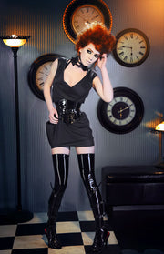 Mini PVC snap-up Neck Corset