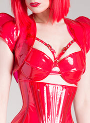 Tinted Clear PVC underbust Corset