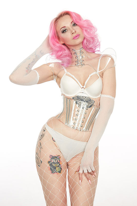 Clear PVC Waspie Underbust Corset