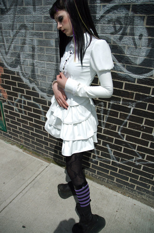 Gothic Lolita Long Sleeve PVC Button-up Shirt