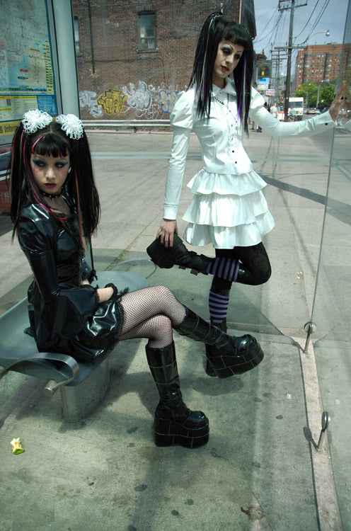 Gothic Lolita 3-tiered PVC puffy skirt