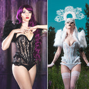 Freyja Clear Vinyl and Lace accented Corset