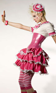 Mini Gothic Lolita 3-tiered PVC puffy skirt
