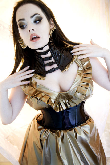 Pleated Neck Corset
