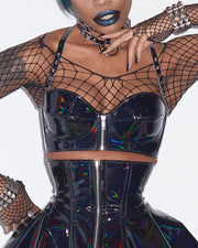 Holographic PVC Bustier