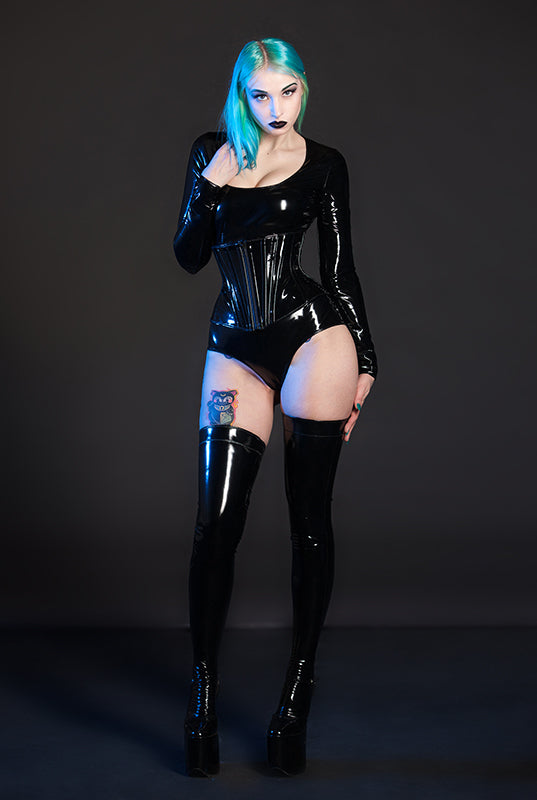 PVC Jumpsuit with Sleeves
