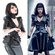 Victorian PVC belted Jacket
