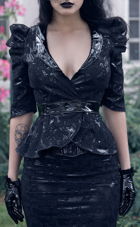 Victorian lace overlay Jacket