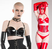 PVC Metal accented Bustier