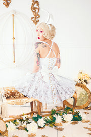 Clear PVC and Lace Corset Skirt