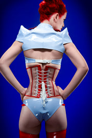PVC Nurse bra with pleated accents