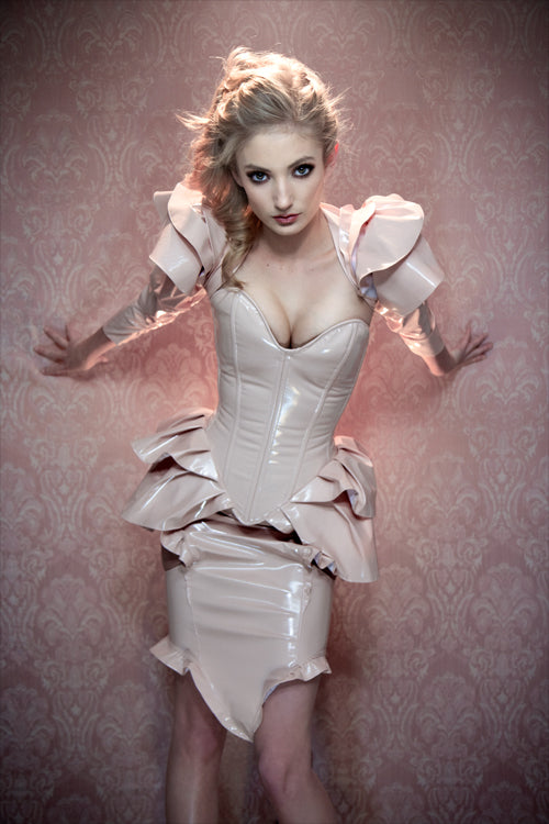 Victorian Ruffled Overbust