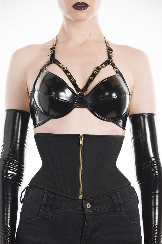 PVC Harness buckle Bra