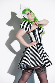Beetlejuice Padded bust cup PVC Corset