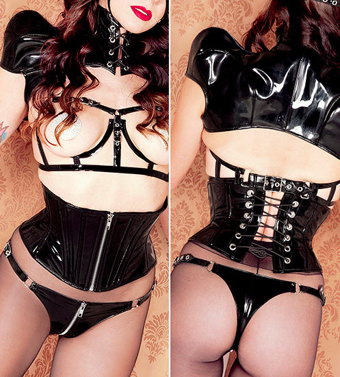PVC Zipper buckle thong