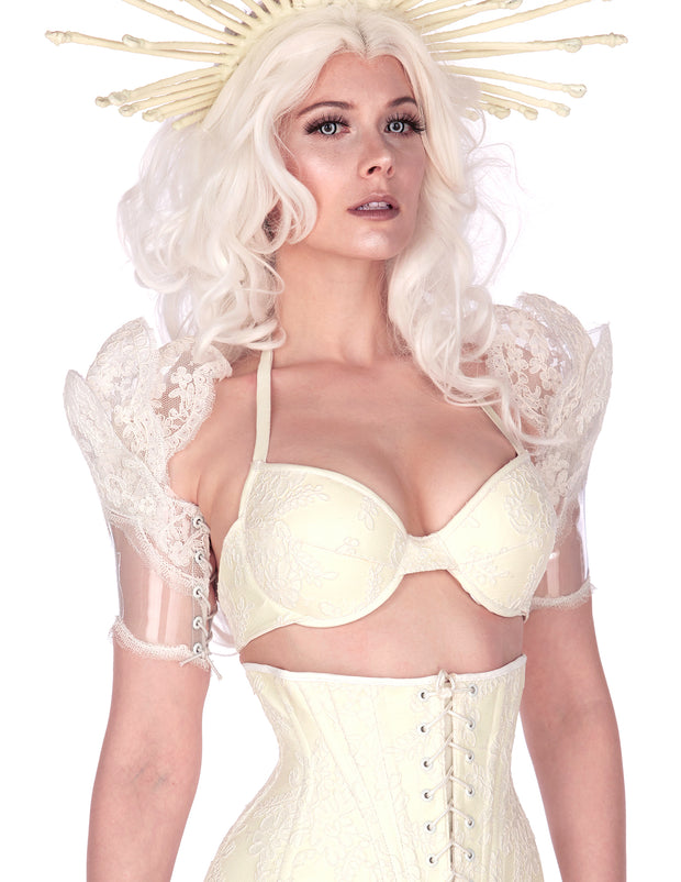Seraph Clear PVC and Lace shrug