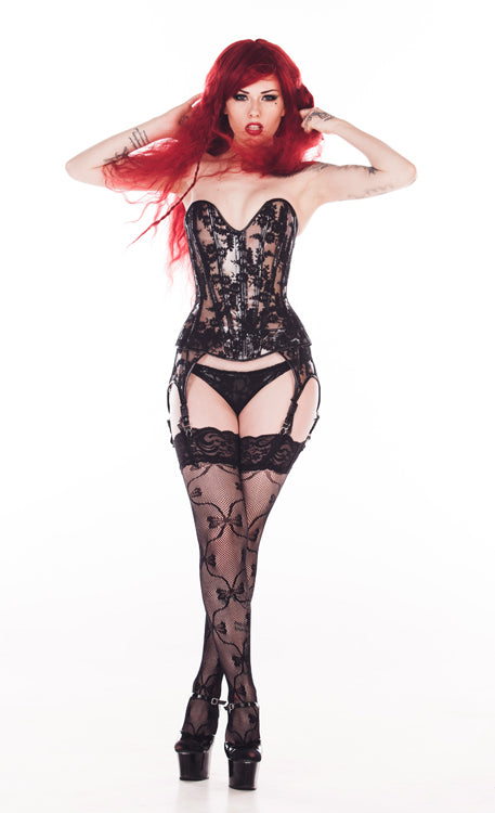 Clear Vinyl and Lace Overbust Corset
