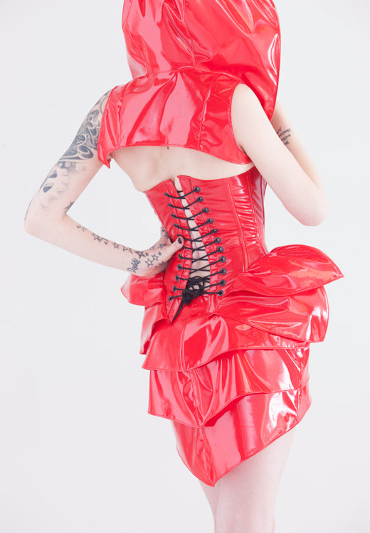 PVC hooded shrug