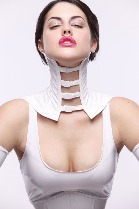 PVC snap-up Neck Corset