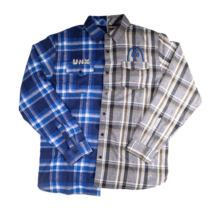 """Peaking Mascot"" Split Flannel"