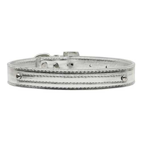 "3/8"" (10mm) Metallic Two Tier Collar Silver Medium"