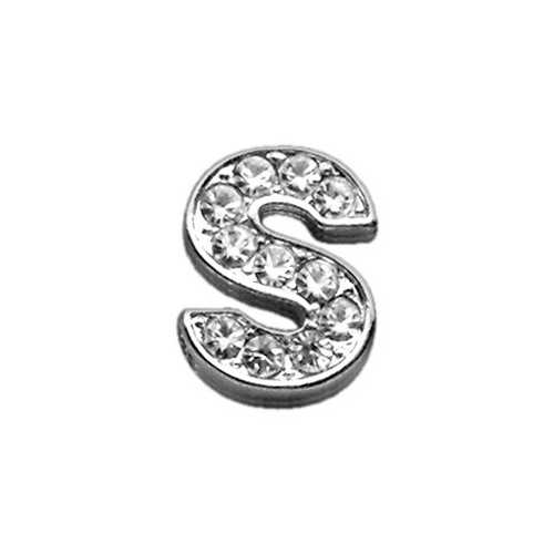 "3/8"" Clear Bling Letter Sliding Charms S ."
