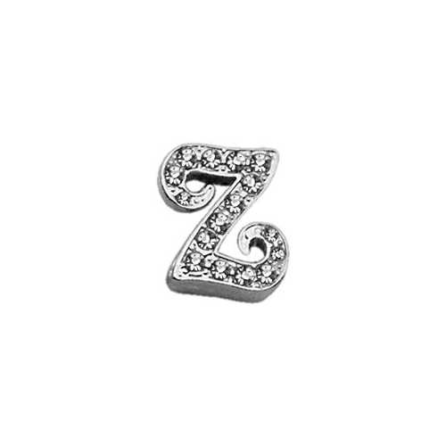 "3/8"" Clear Script Letter Sliding Charms Z ."