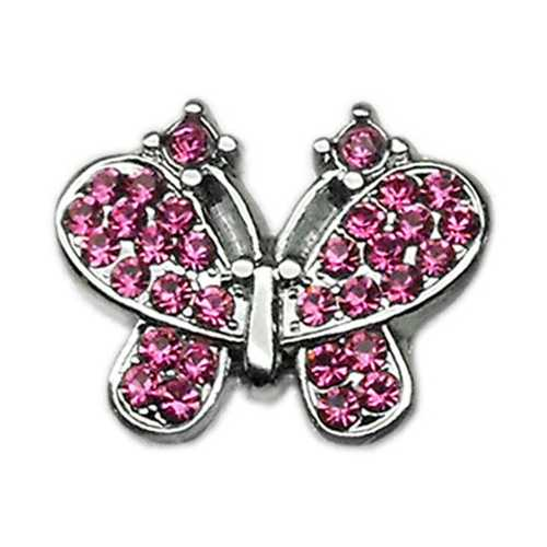 "3/8"" Slider Butterfly Charm Pink 3/8"""
