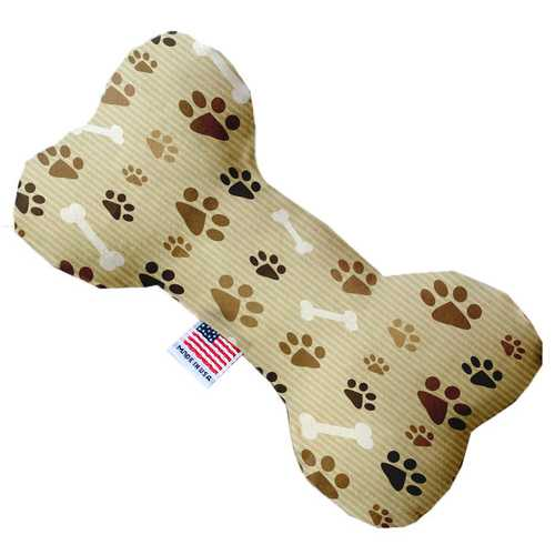 Mocha Paws and Bones 8 inch Bone Dog Toy
