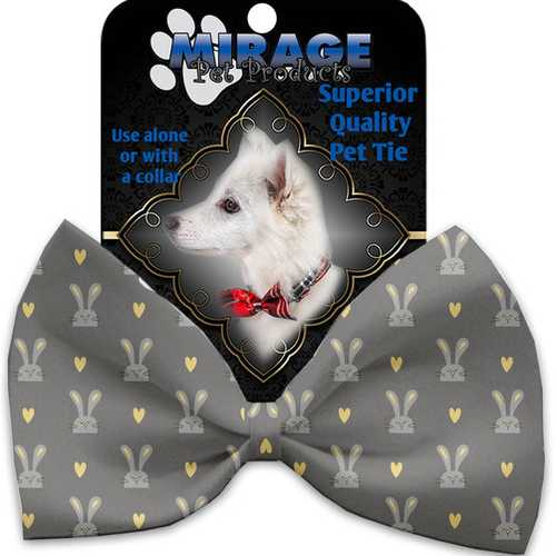 Gray Bunnies Pet Bow Tie