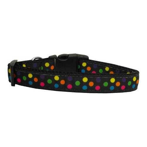 Black Multi-Dot Dog Collar Medium