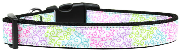 Summer Swirls Nylon Dog Collar Medium