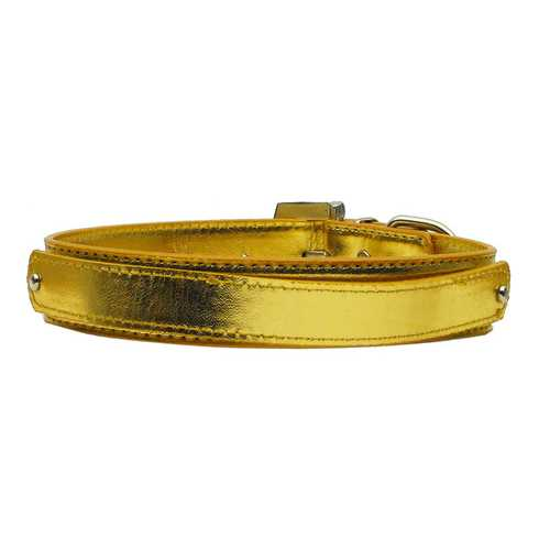 "3/4"" (18mm) Metallic Two-Tier Collar  Gold Large"