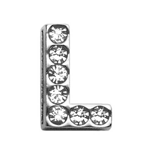 "3/4"" (18mm) Clear Letter Sliding Charms L 3/4 (18mm)"