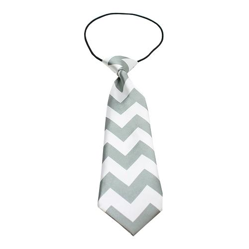 Big Dog Neck Tie Chevron Grey
