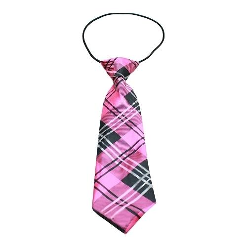 Big Dog Neck Tie Plaid Pink