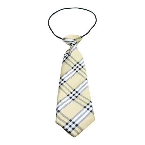 Big Dog Neck Tie Plaid Cream