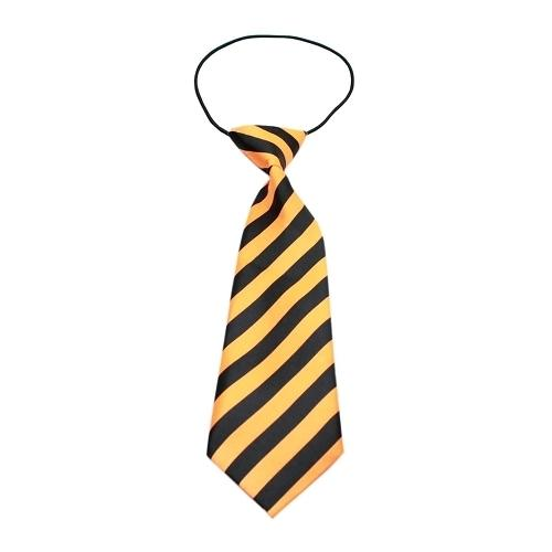 Big Dog Neck Tie Striped Orange