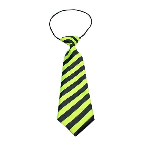 Big Dog Neck Tie Striped Lime