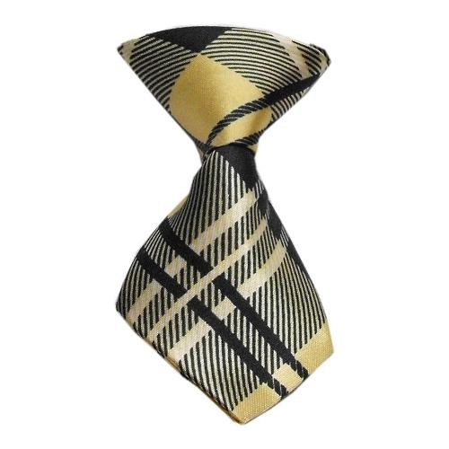 Dog Neck Tie Plaid Cream