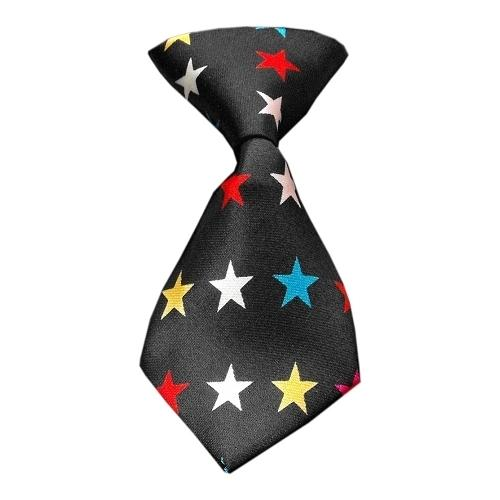 Dog Neck Tie Confetti Stars
