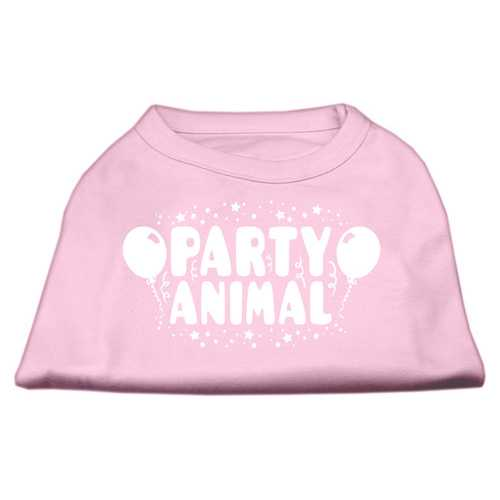 Party Animal Screen Print Shirt Light Pink XS (8)