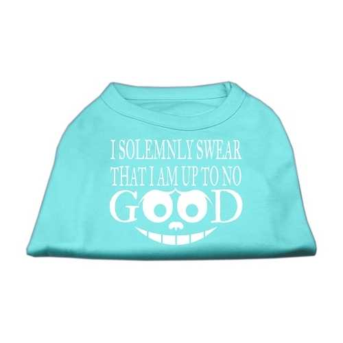 Up to No Good Screen Print Shirt Aqua XXL (18)
